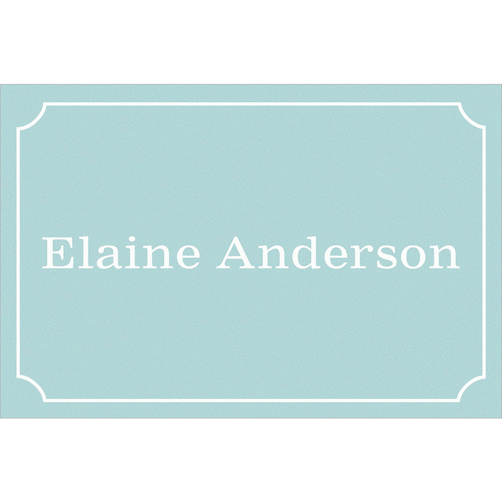 Custom Formal Corners Teal Thank You Notes Image #1