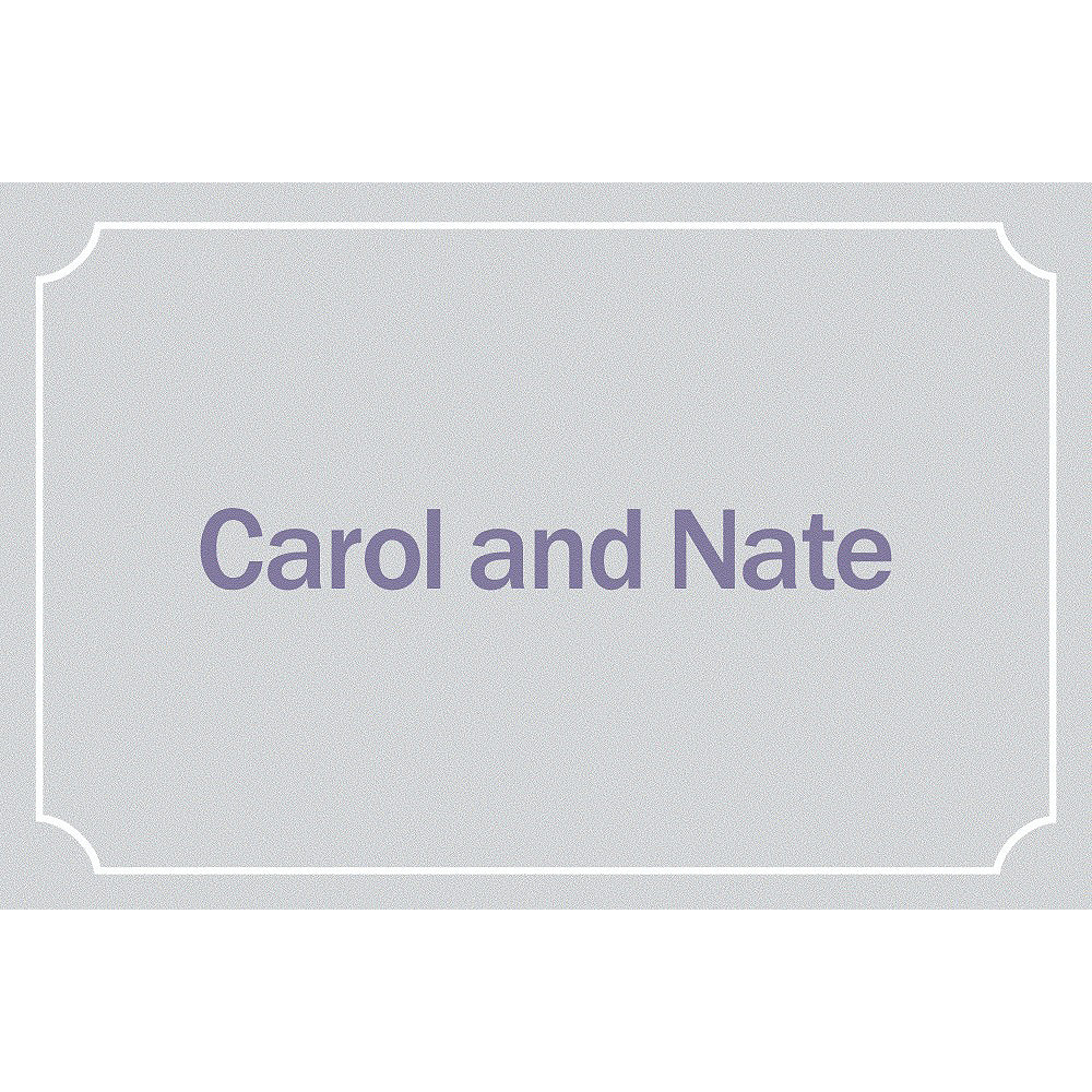 Custom Formal Corners Gray Thank You Notes Image #1