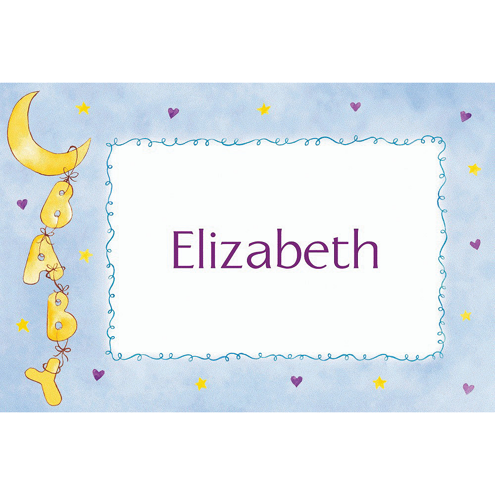 Nav Item for Custom Moon & Stars Baby Shower Thank You Notes Image #1
