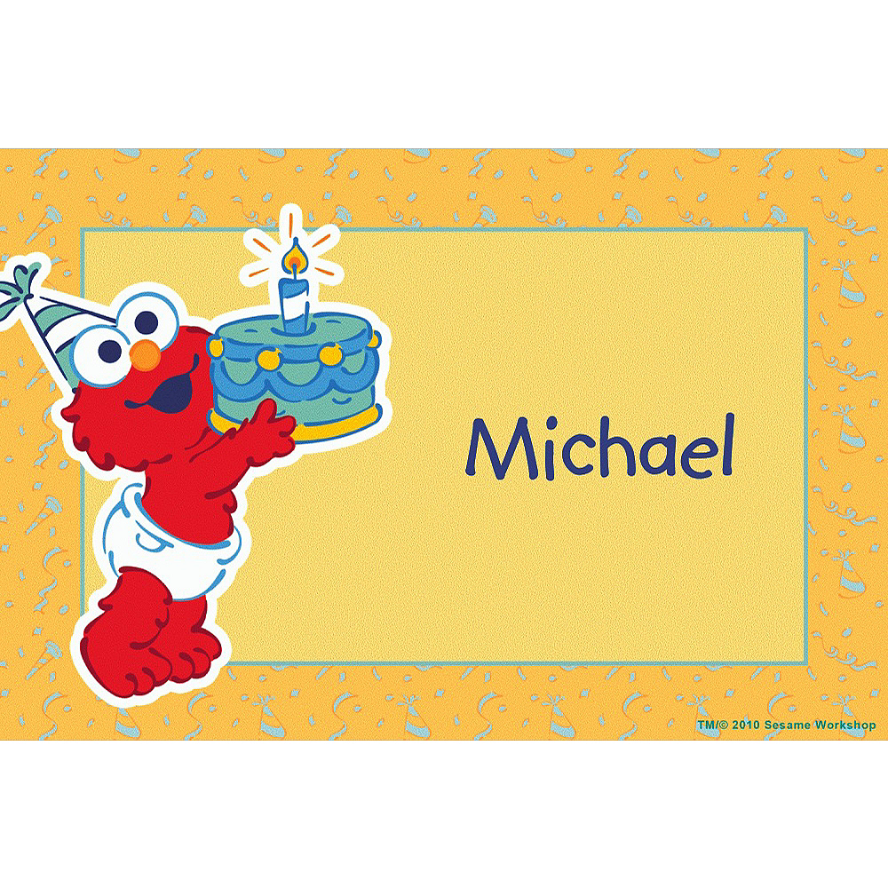 Custom Elmo First Birthday Thank You Notes Image #1