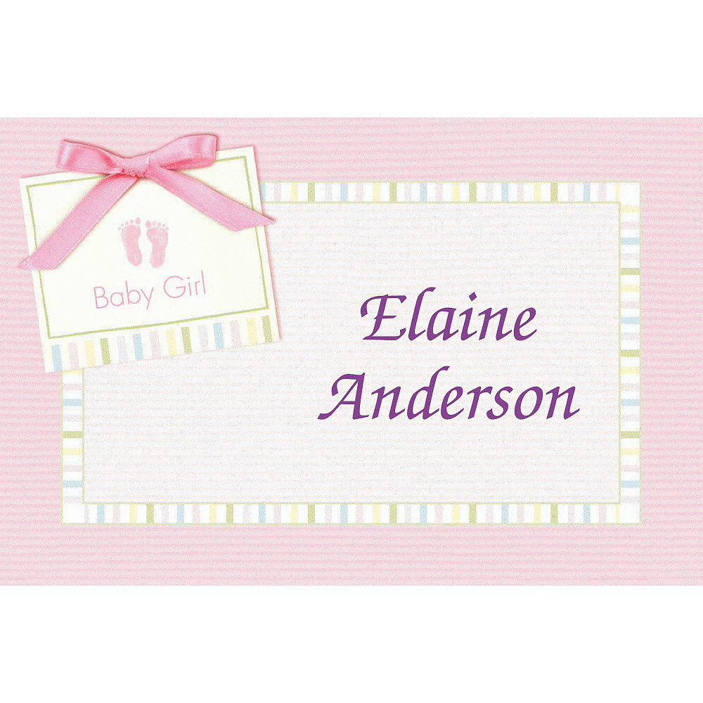 Custom Baby Soft Pink Baby Shower Thank You Notes Image #1
