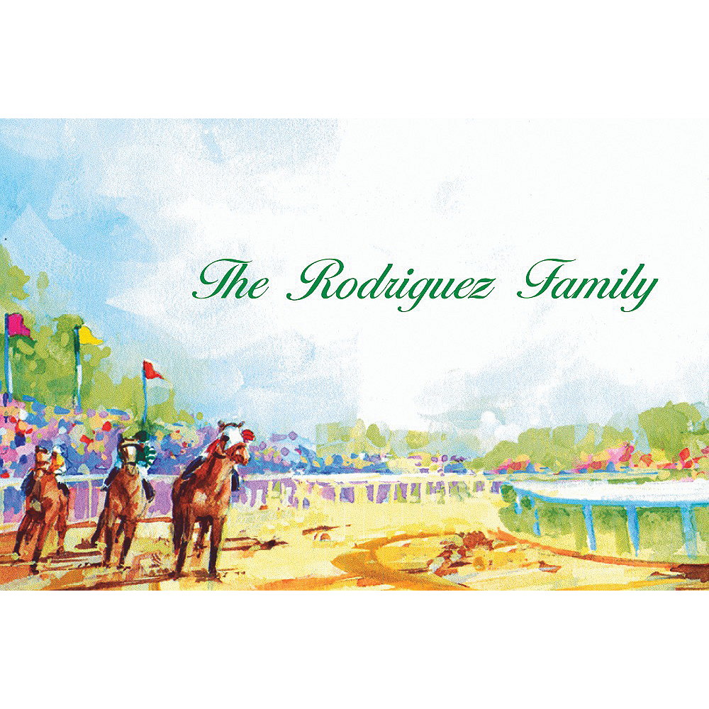 Custom At the Races Thank You Notes Image #1