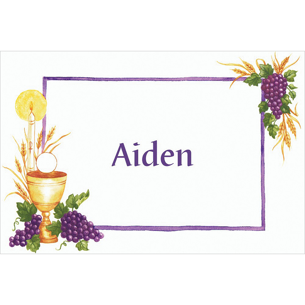 Custom Communion with Grapes Thank You Notes Image #1