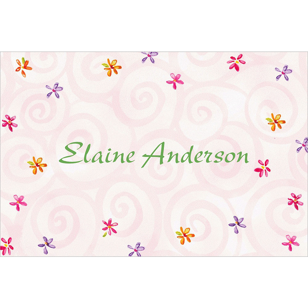 Custom Heart with Flowers Wedding Thank You Notes Image #1