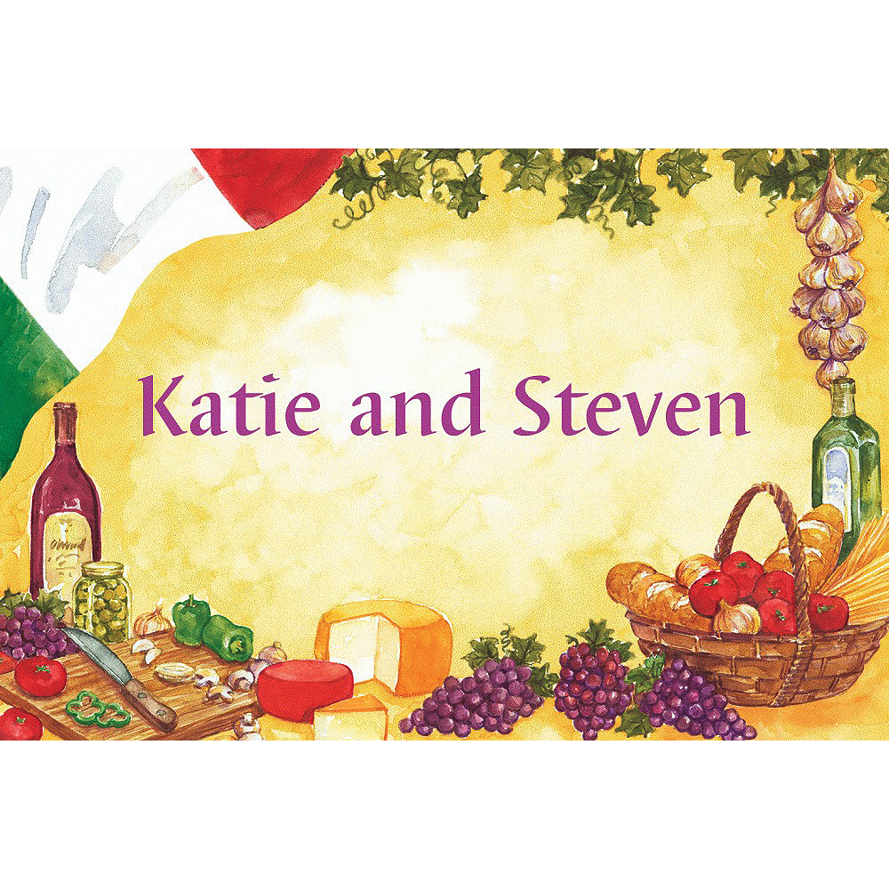 Custom Italian Dinner Party Thank You Notes Image #1
