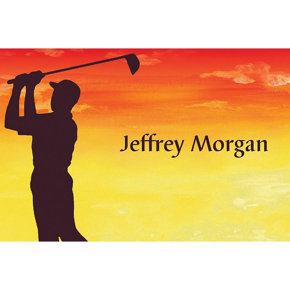 Custom Sunrise Golfer Thank You Notes Image #1