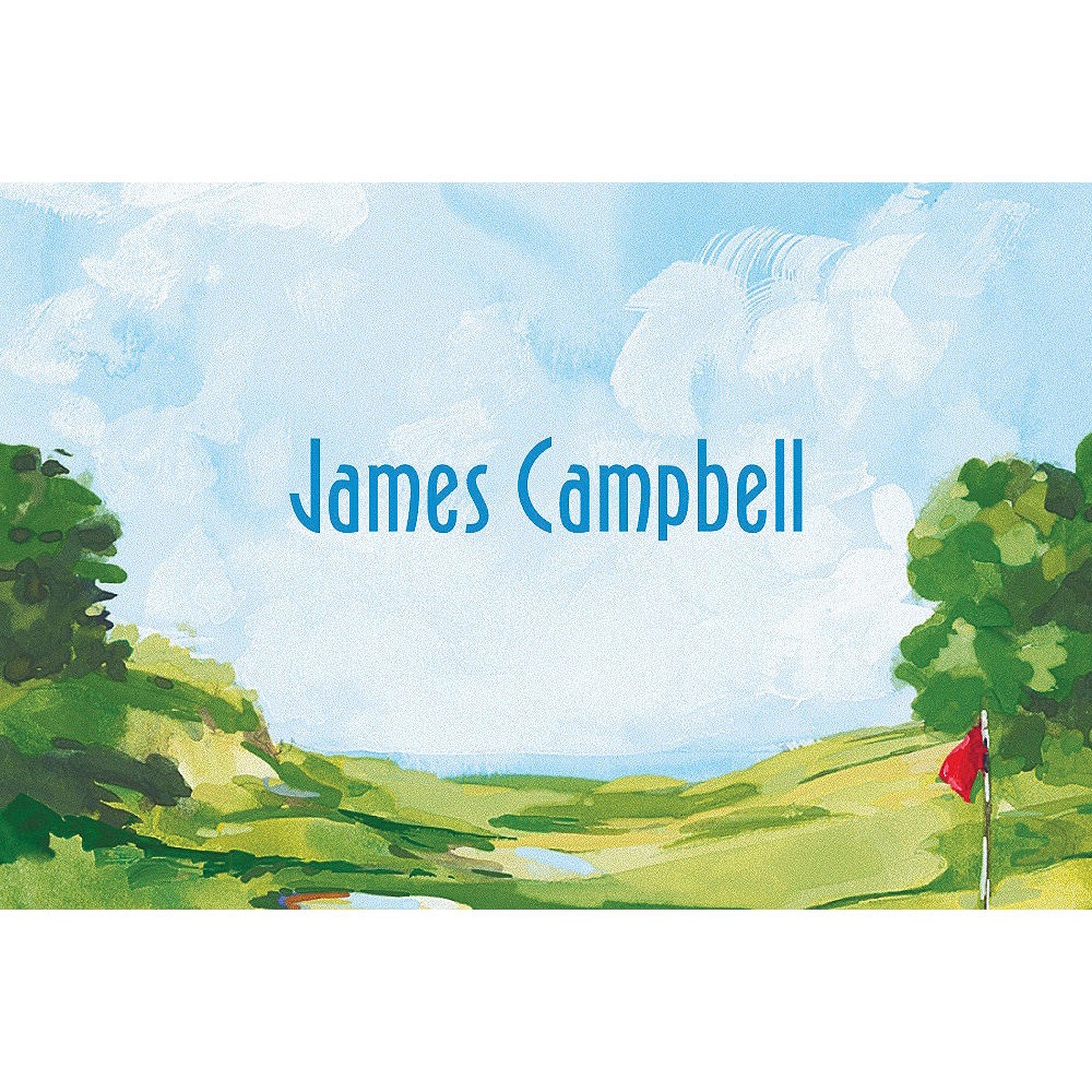 Custom Golf Course Landscape Thank You Notes Image #1