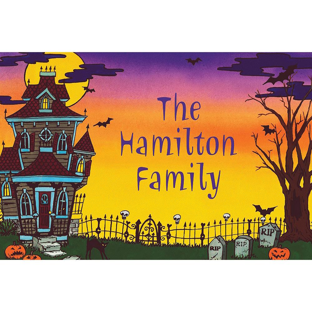 Custom Haunted House Halloween Thank You Notes Image #1