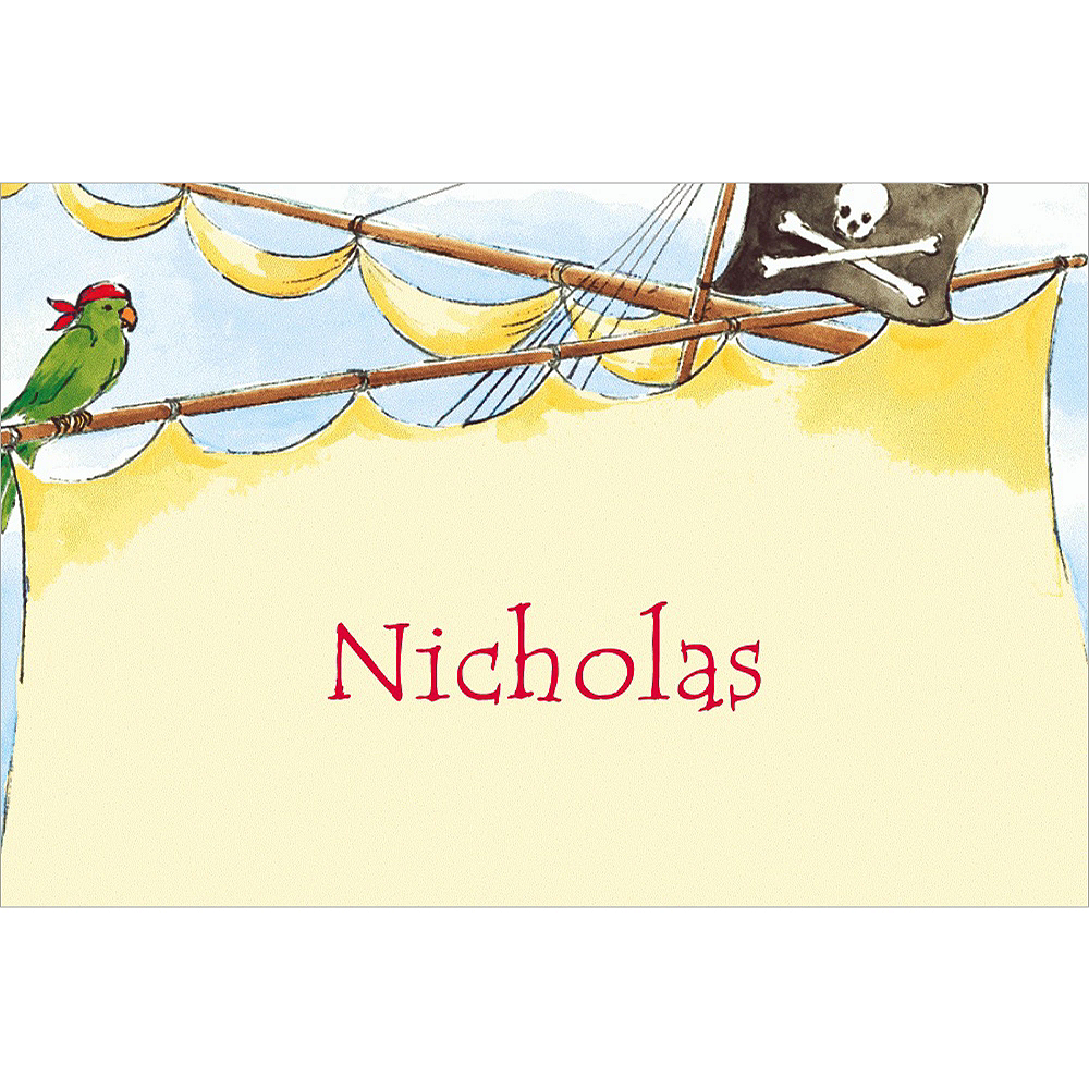 Custom Pirate Ship with Flag Thank You Notes Image #1