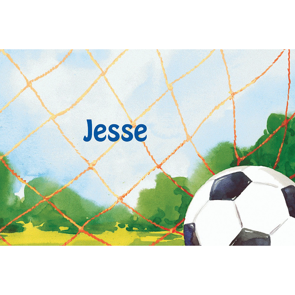 Custom Soccer Net Thank You Notes  Image #1