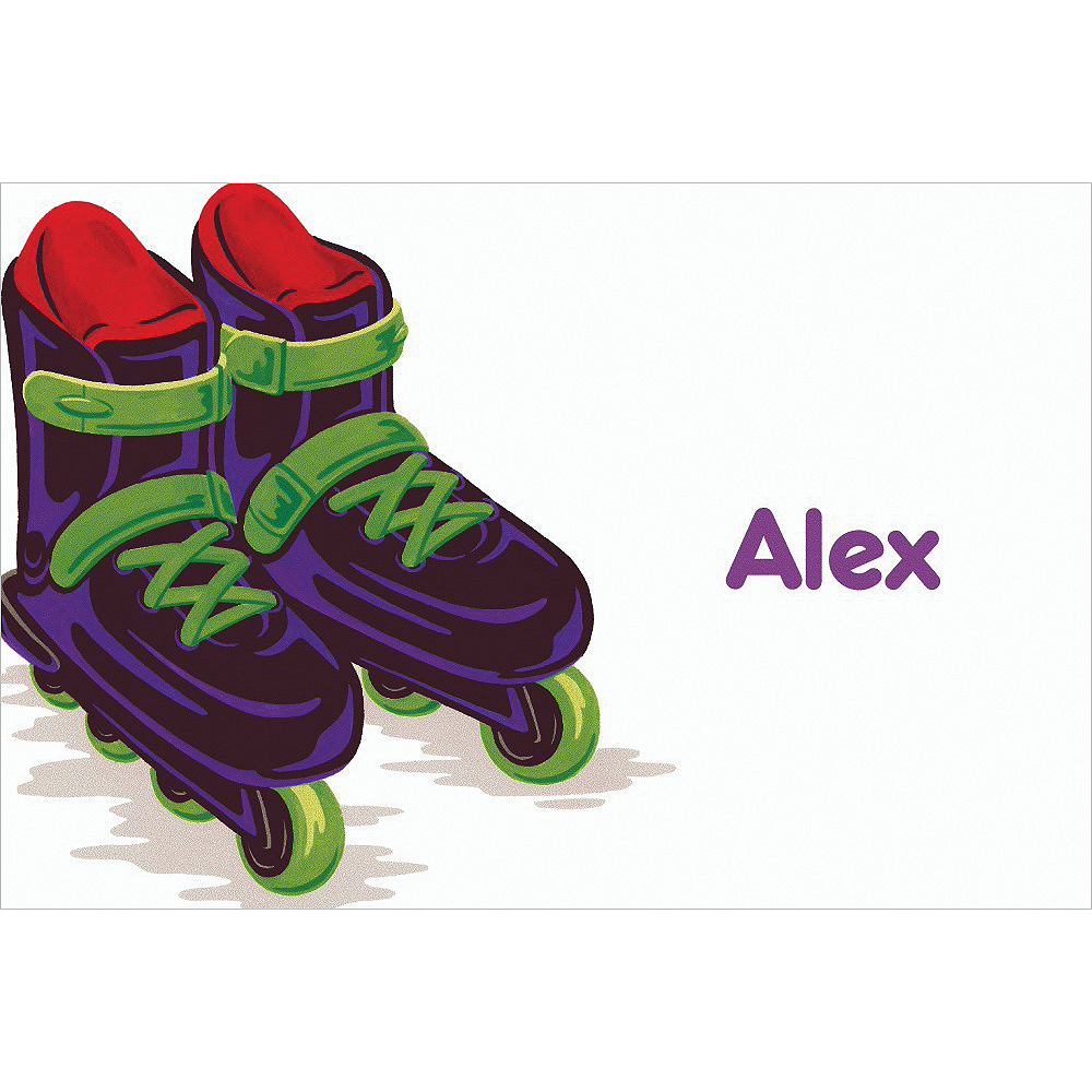 Custom Roller Blades Thank You Notes Image #1