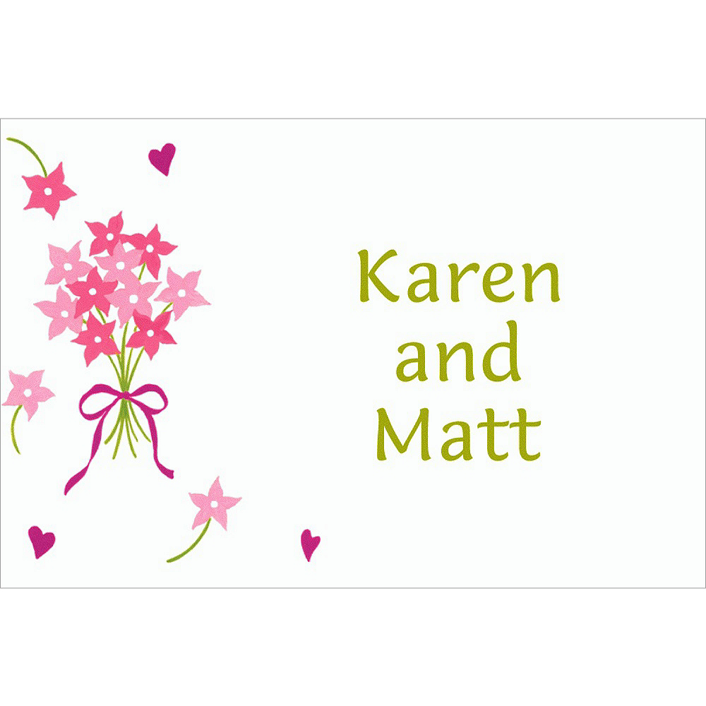 custom bouquet florets bridal shower thank you notes
