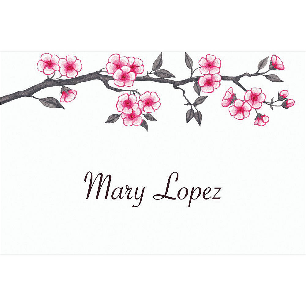 Custom Blooming Branches Thank You Notes Image #1