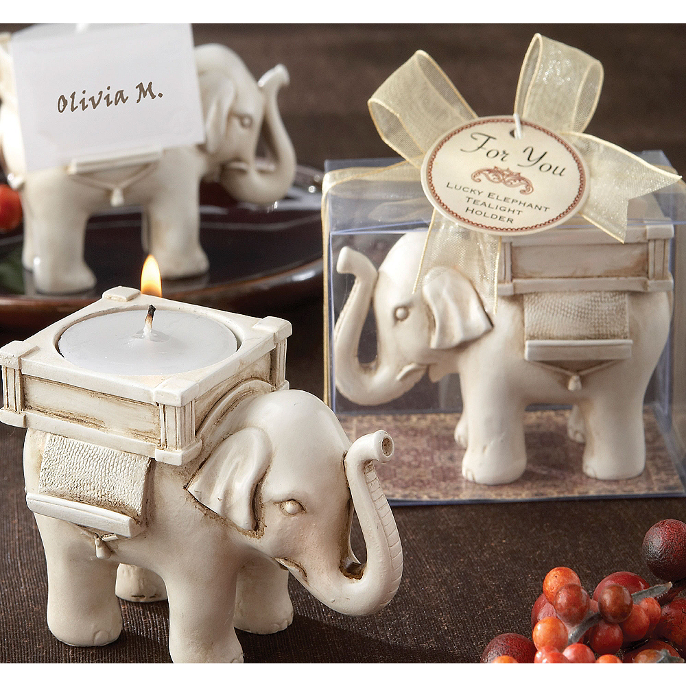 Lucky Elephant Tealight Candle Holder Image #1