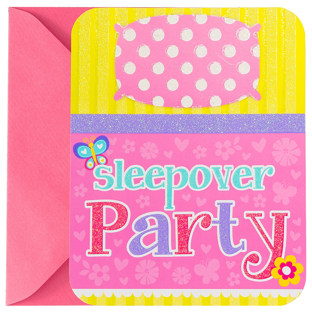 Premium Sliding Slumber Party Invitations 8ct Image #1