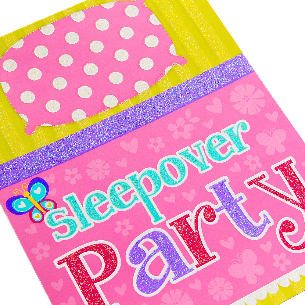 Premium Sliding Slumber Party Invitations 8ct Image #4
