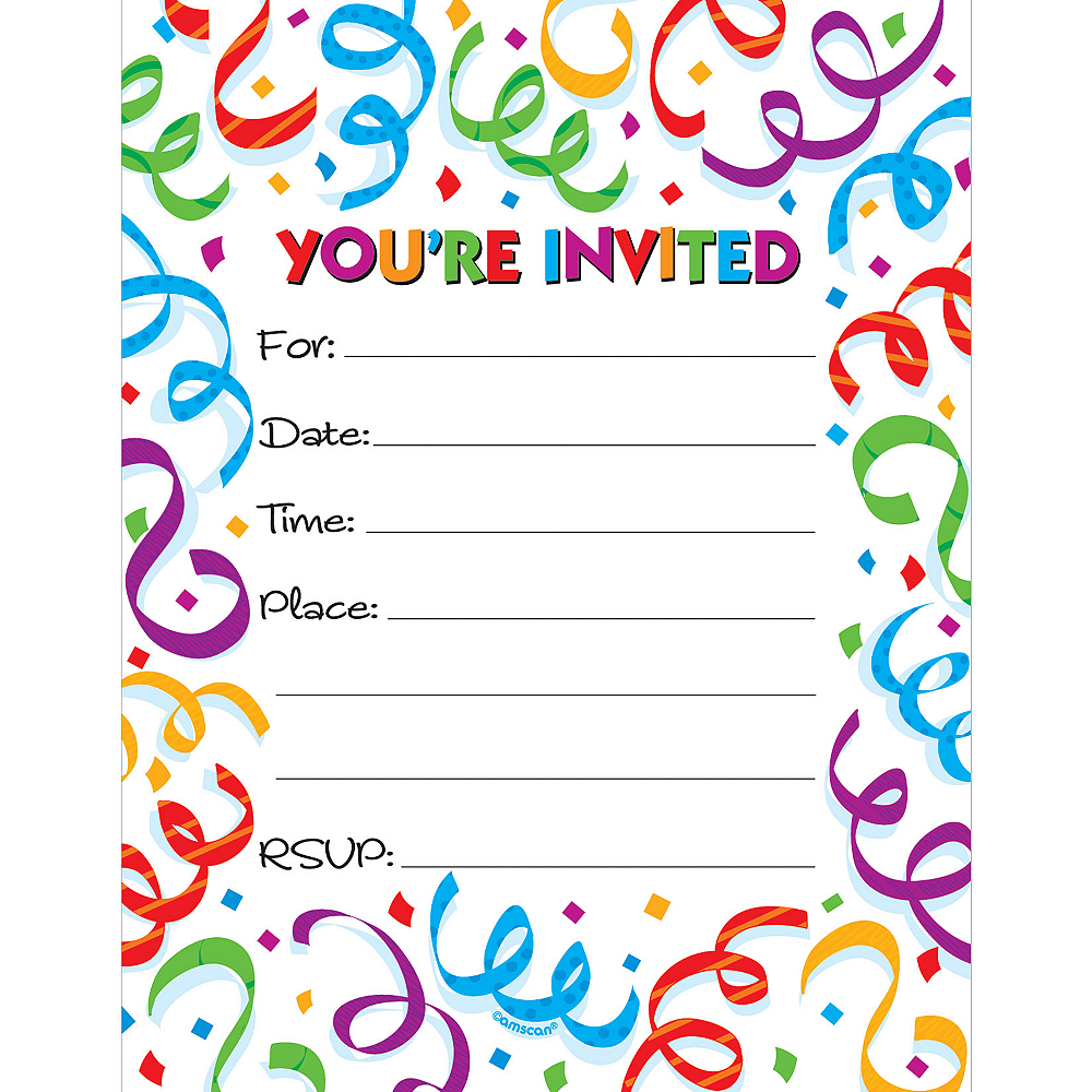 Fanfare Invitations 50ct Image #1