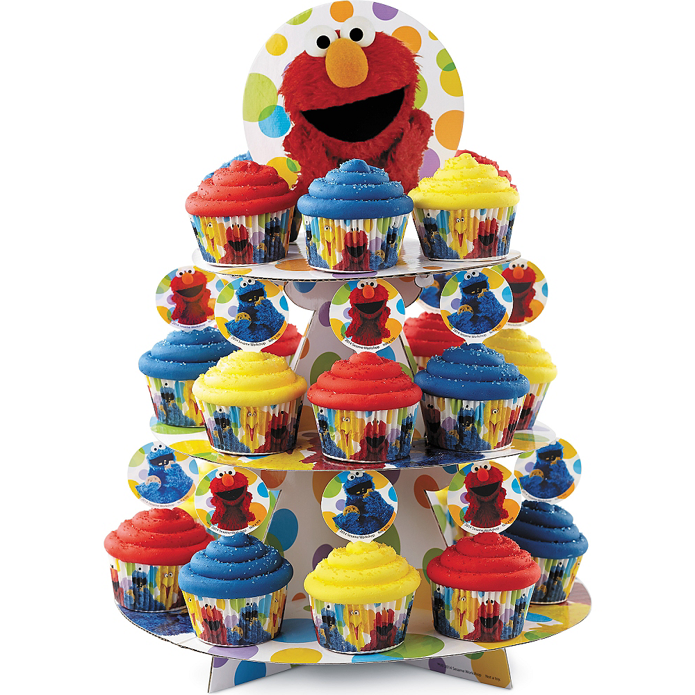 Wilton Sesame Street Cupcake Stand 11 3/4in x 15in | Party ...