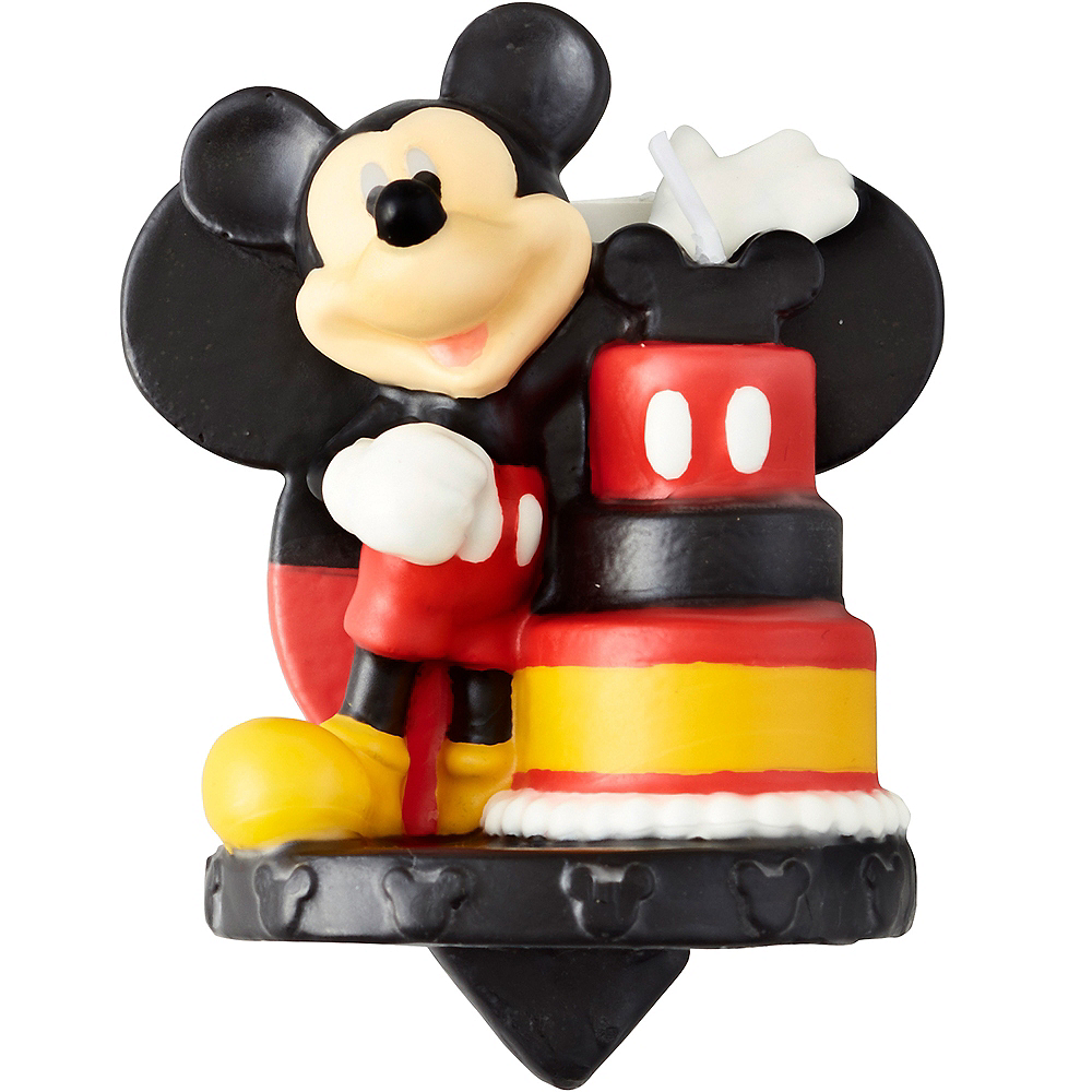 Wilton Mickey Mouse Birthday Candle Image #1