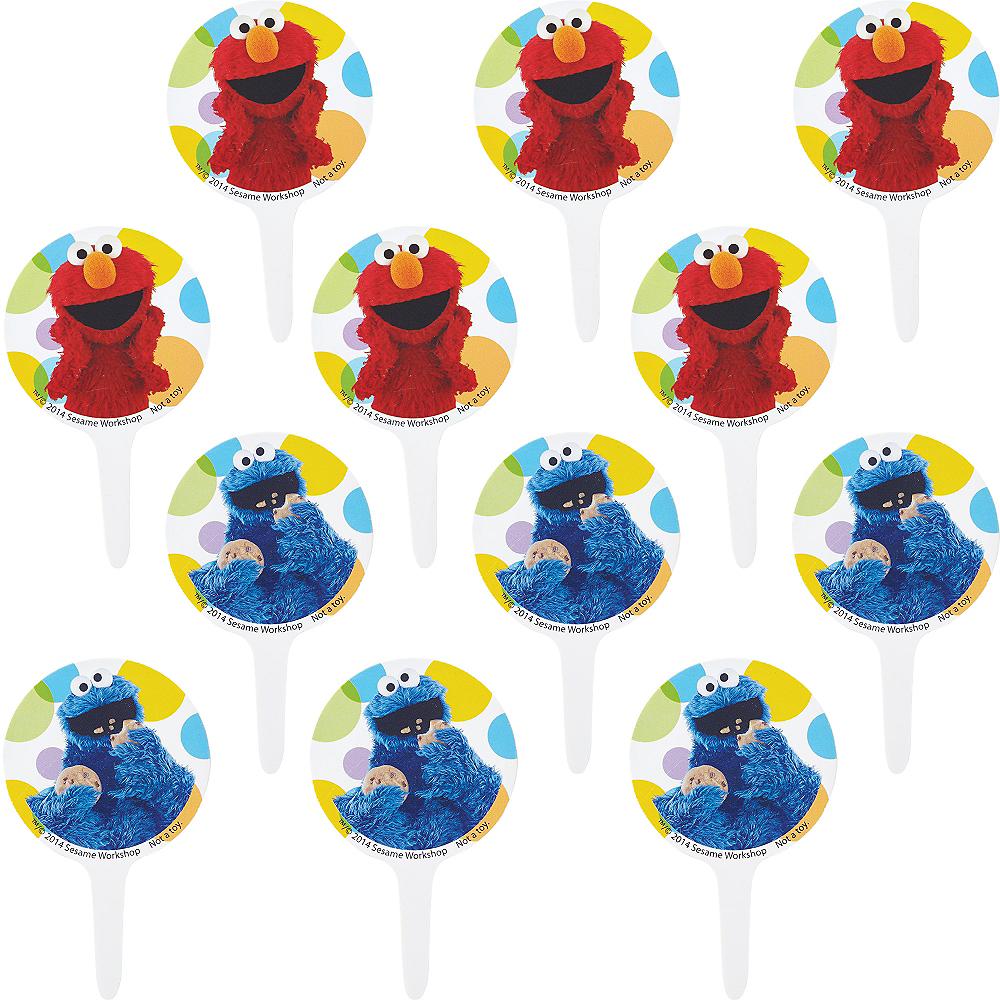 Wilton Sesame Street Cupcake Picks 12ct Image #1