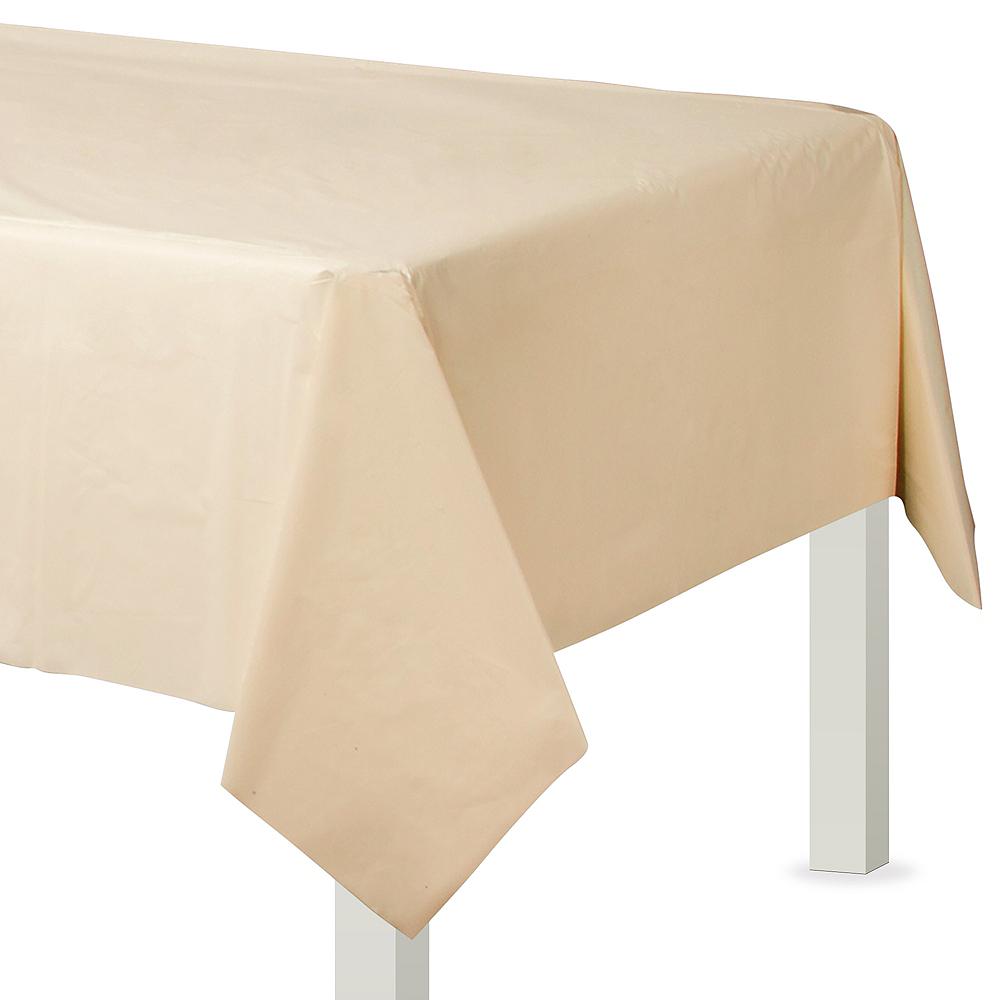 Vanilla Cream Plastic Table Cover Image #1