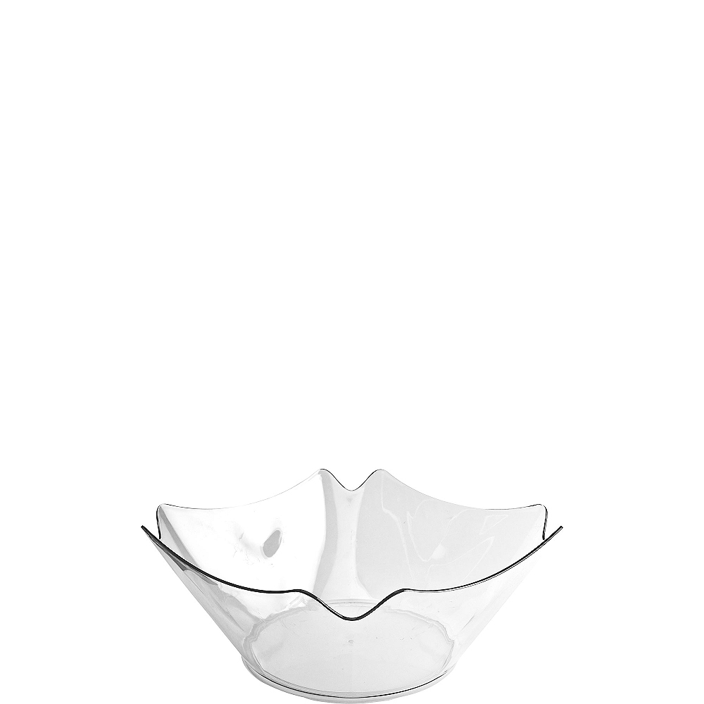 CLEAR Plastic Flower Bowl Image #1