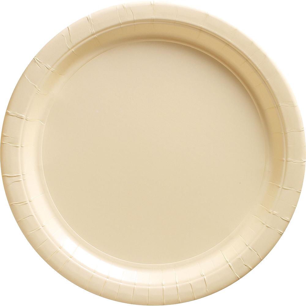 Vanilla Cream Paper Dinner Plates 20ct Image #1