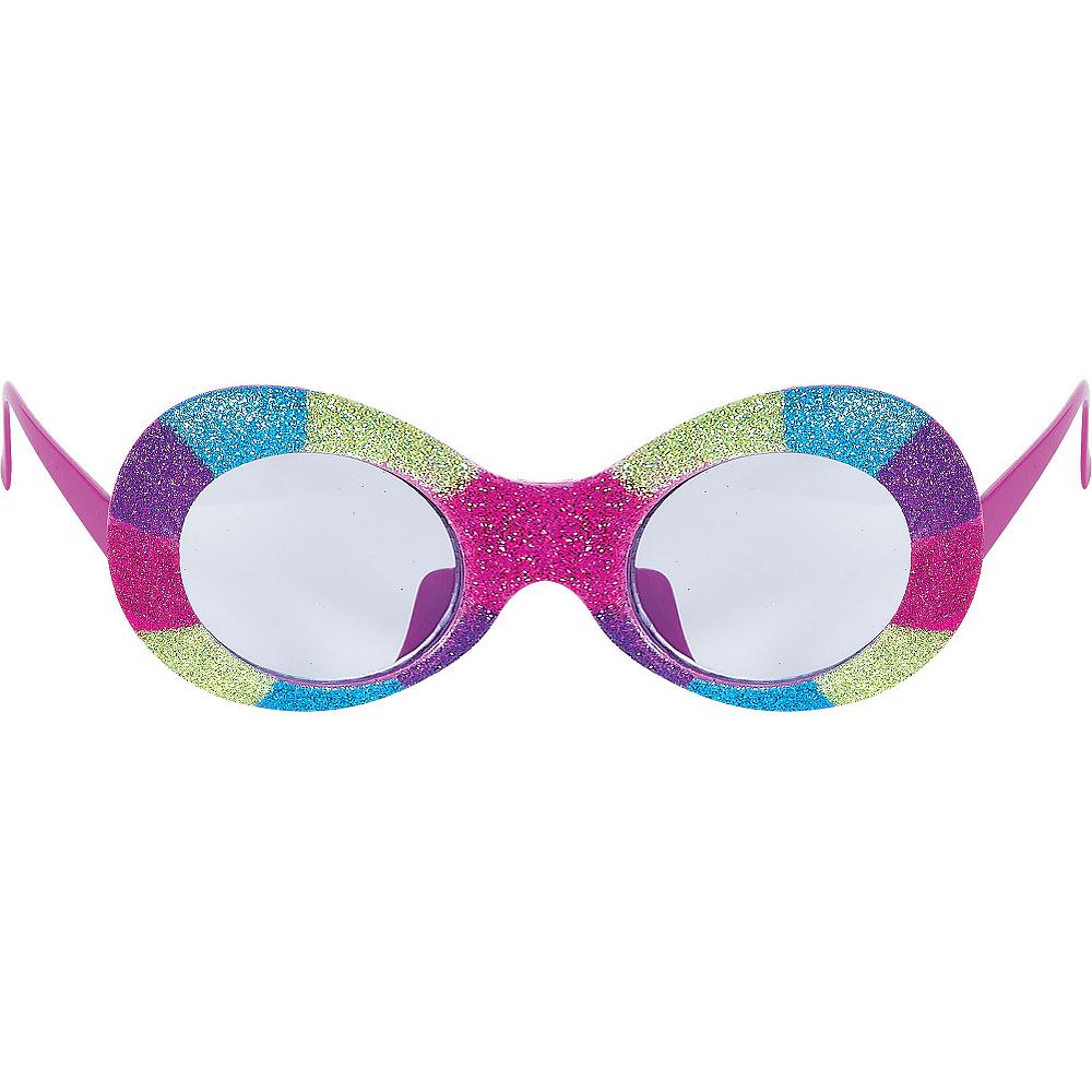 Tricolor Glitter Glasses Image #1