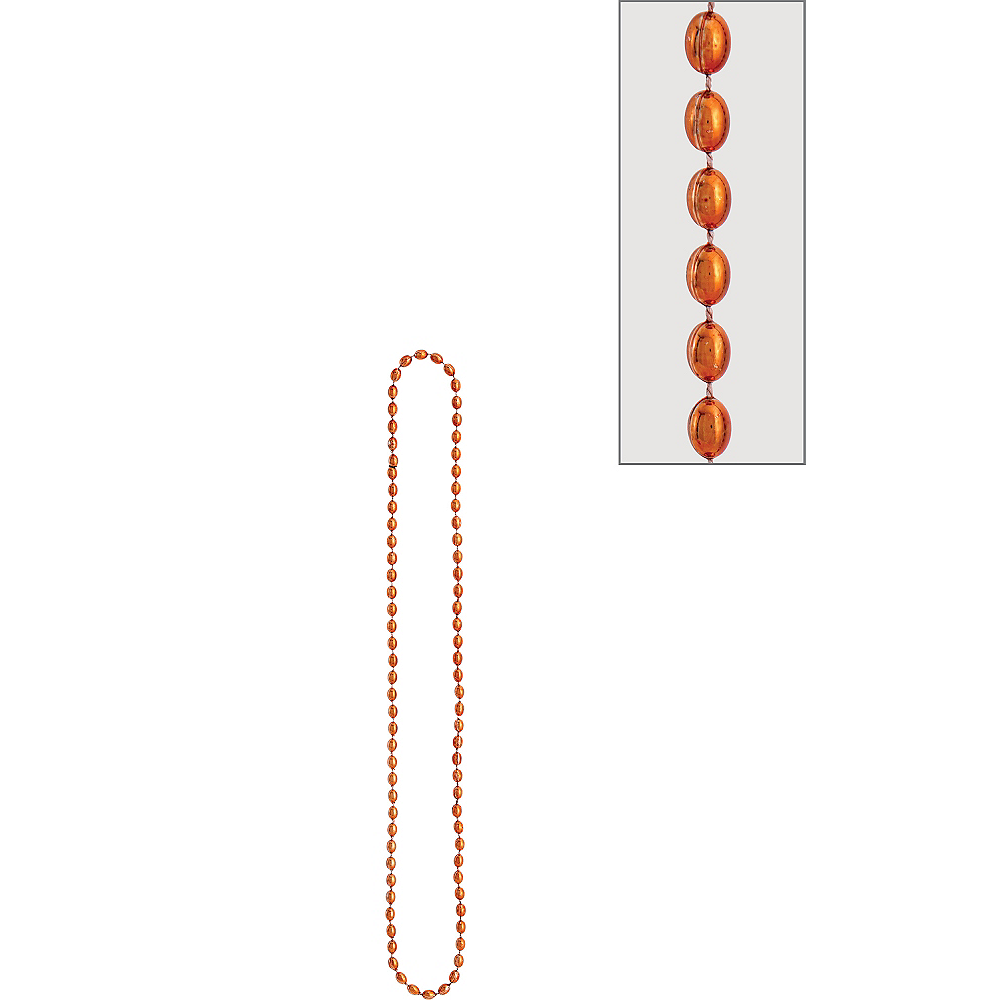 Metallic Orange Bead Necklace Image #1