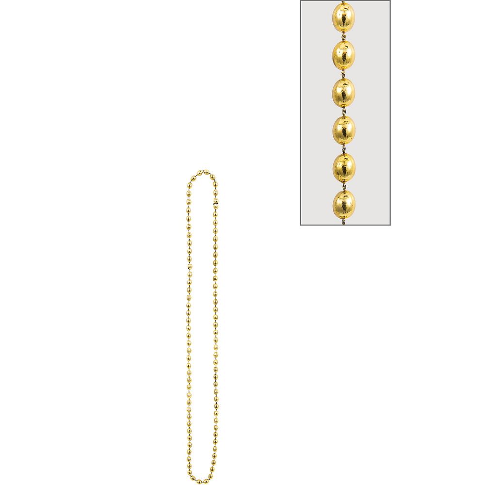 Nav Item for Metallic Gold Bead Necklace Image #1