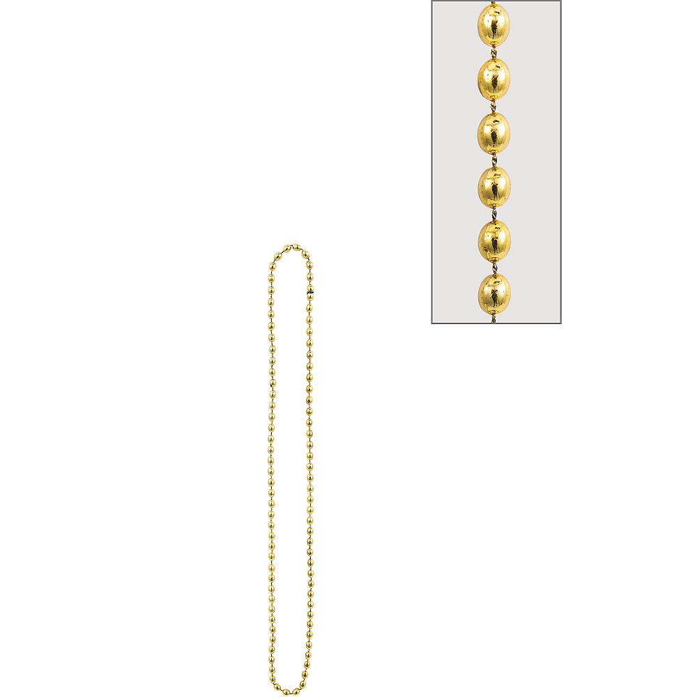 Metallic Gold Bead Necklace Image #1