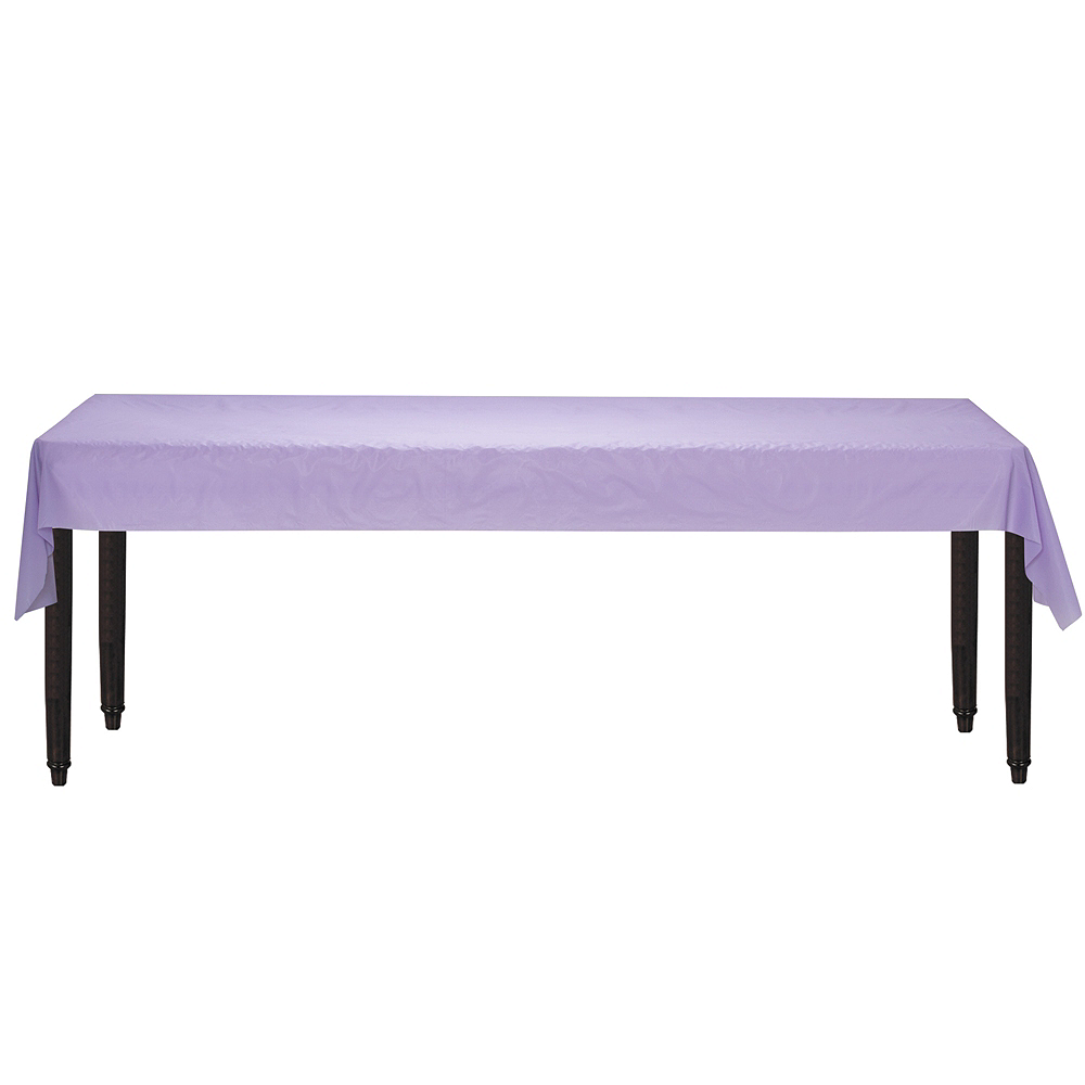 Lavender Plastic Table Cover Roll Image #2