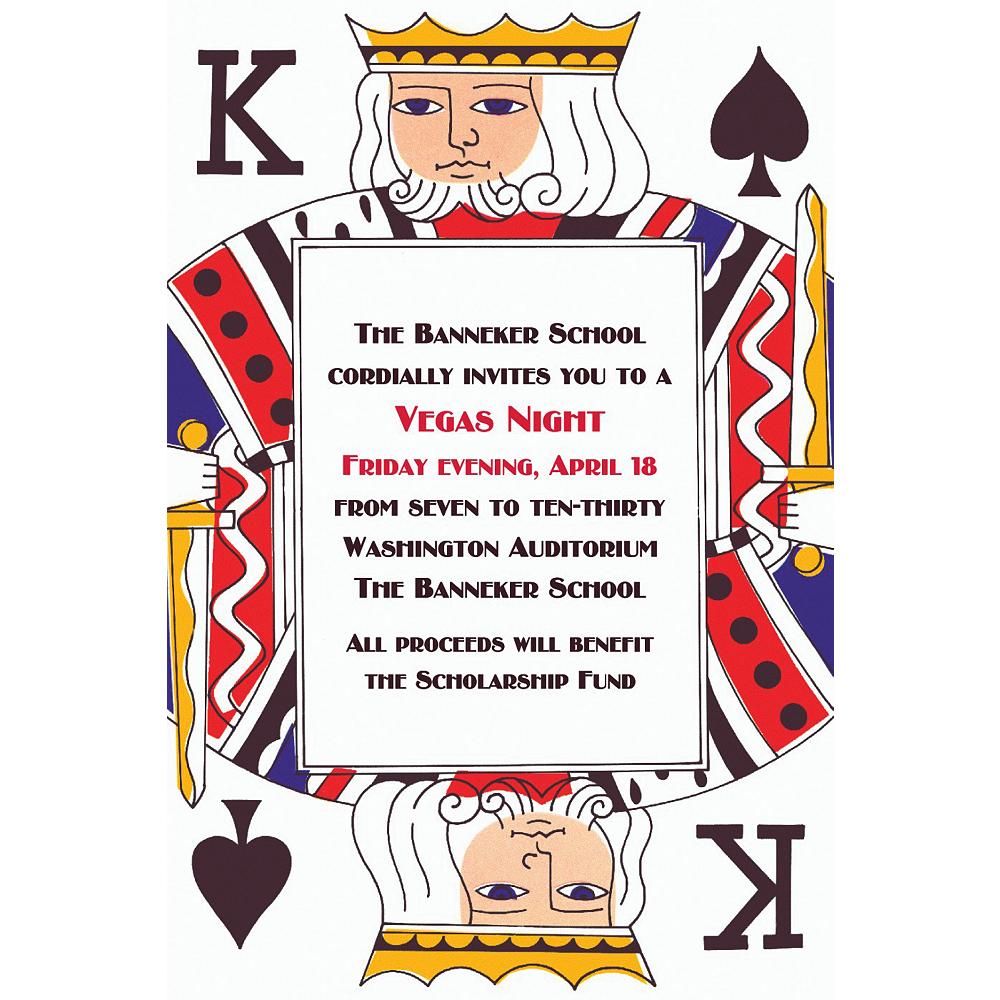 Custom King of Spades Invitations Image #1