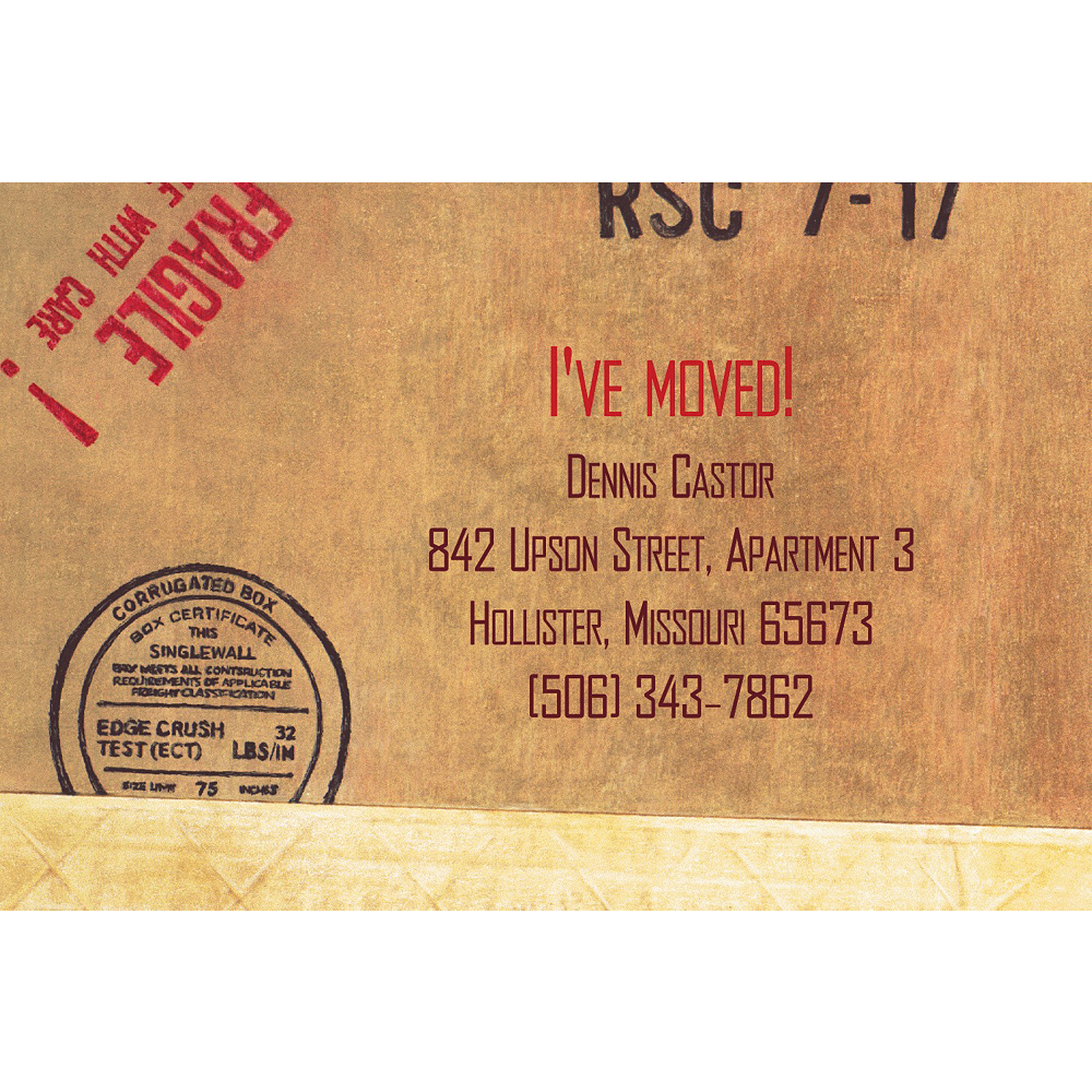 Custom Shipping Box Moving Announcements Image #1