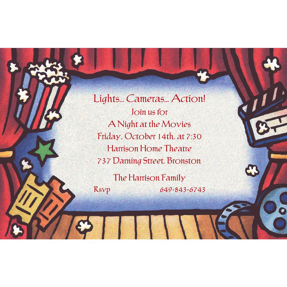 Custom Movie Theatre Invitations Image #1