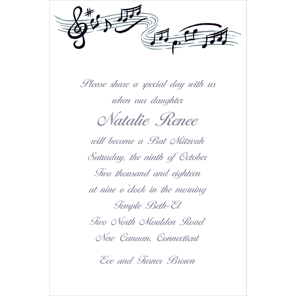 Custom Musical Notes Invitations Image #1
