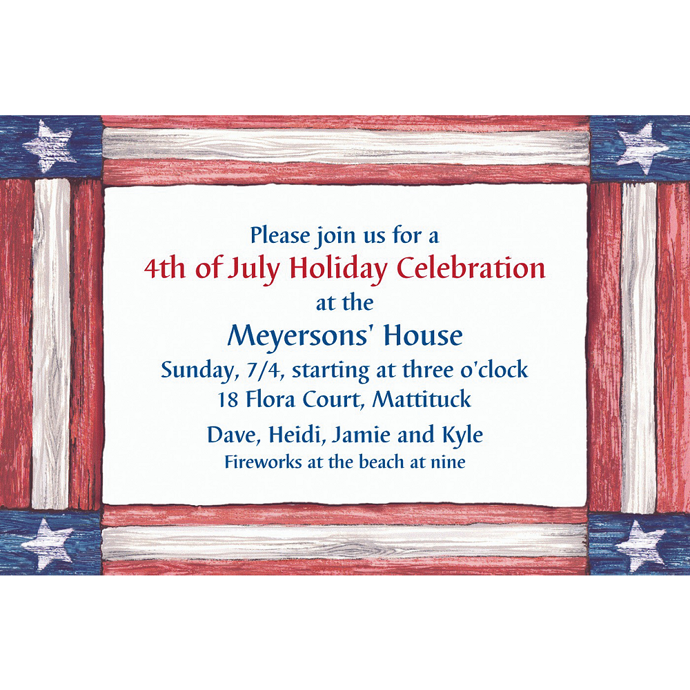 Custom Americana Flag Invitations Image #1