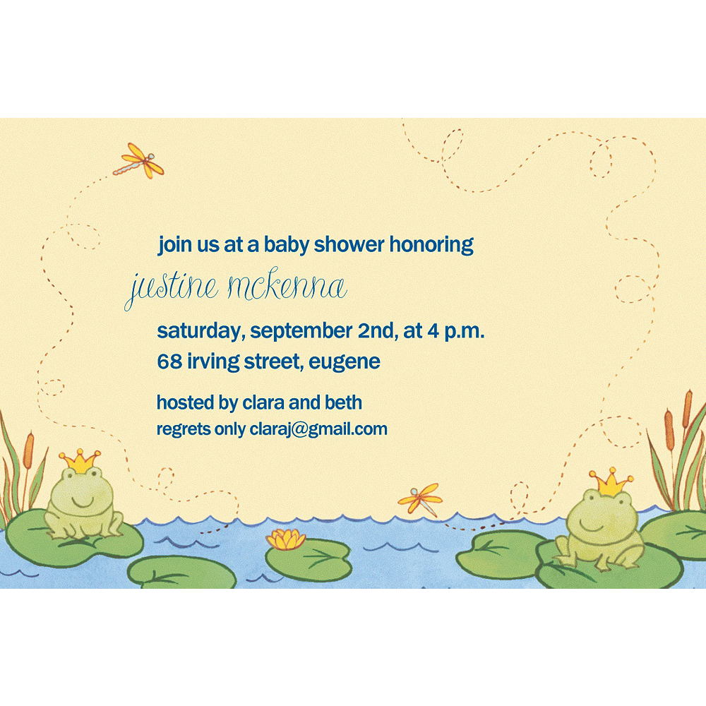 Custom Happy Frogs Baby Shower Invitations Image #1