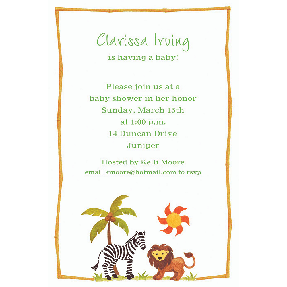 Custom zebra friends baby shower invitations party city custom zebra friends baby shower invitations filmwisefo