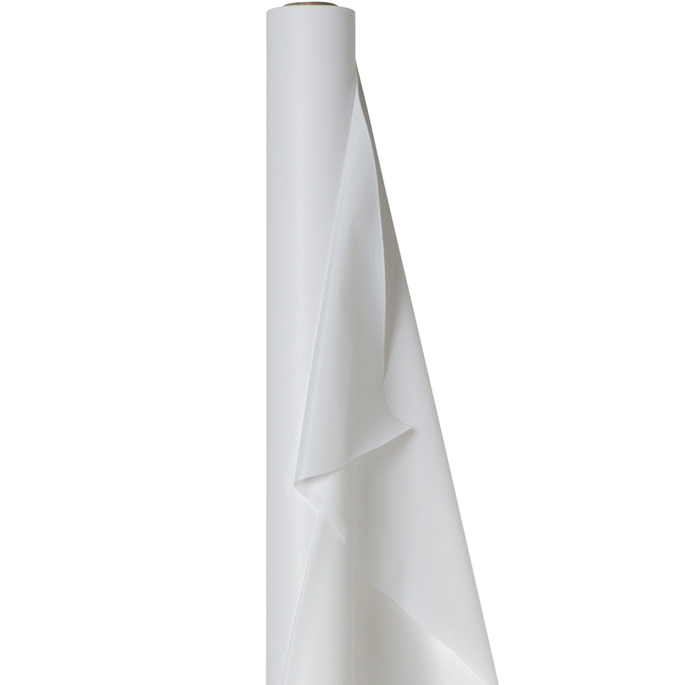 White Plastic Table Cover Roll Image #1