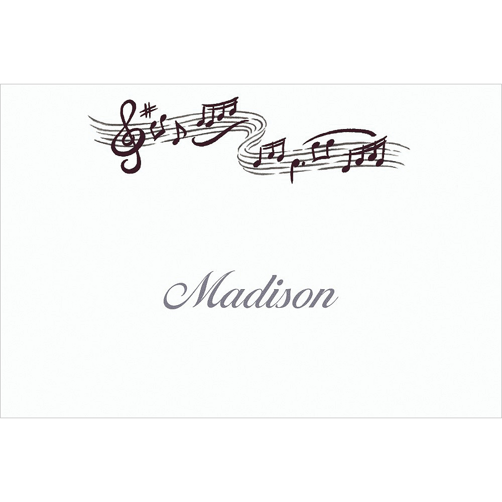 Custom Musical Notes Thank You Notes Image #1