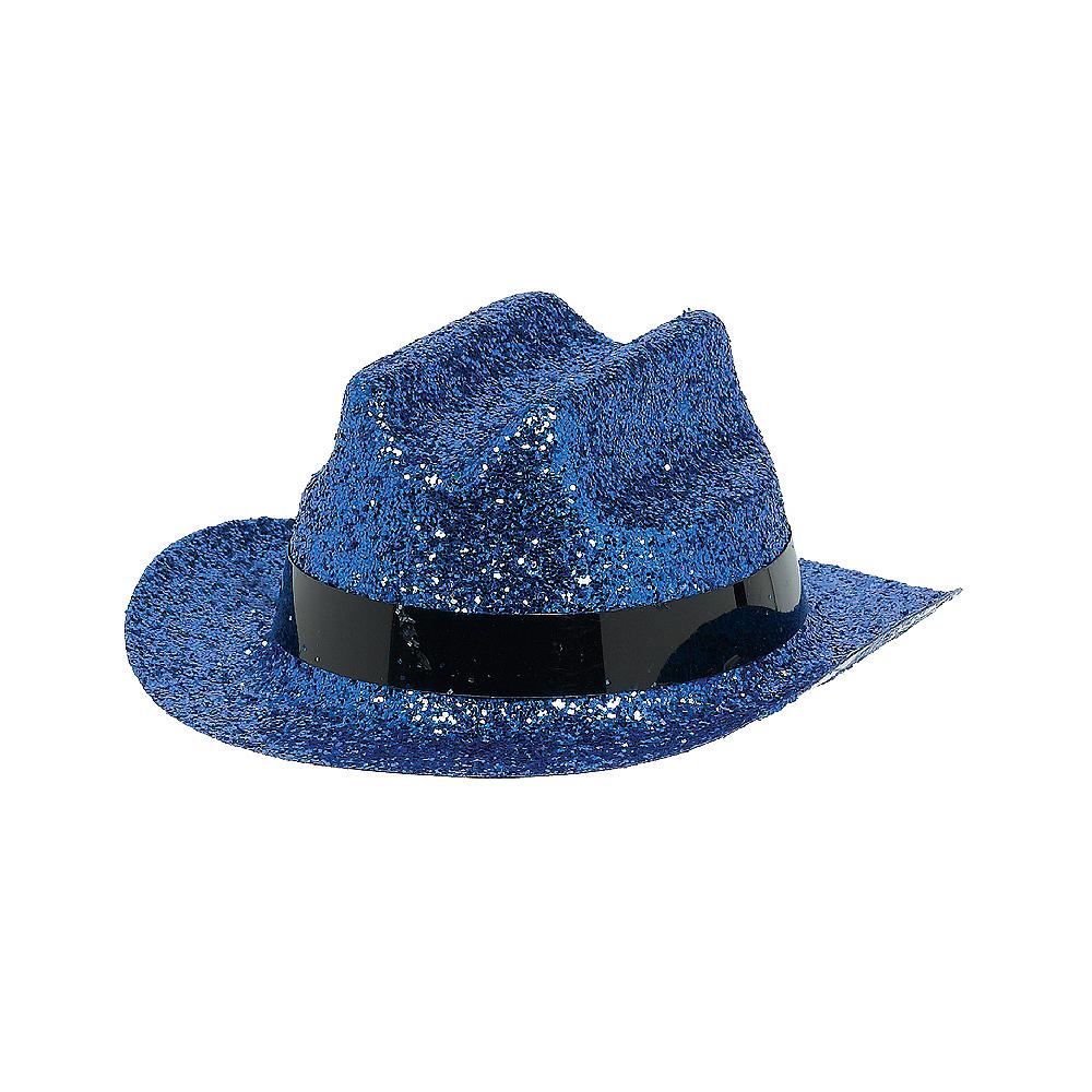 37599ab6e Blue Glitter Mini Cowboy Hat
