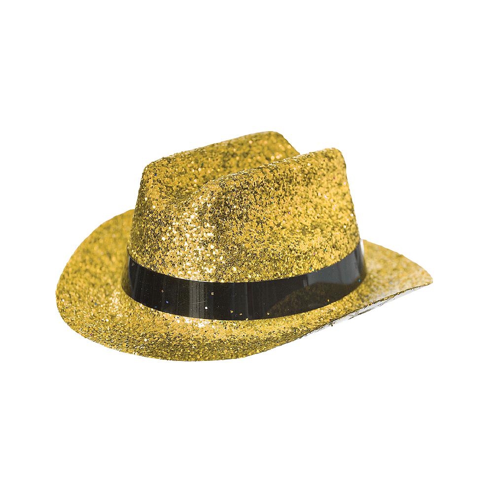 b6ffb61809740 ... Gold Glitter Mini Cowboy Hat Image  2