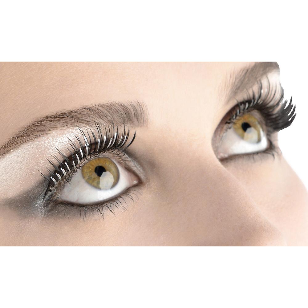 Silver Foil False Eyelashes Image #1