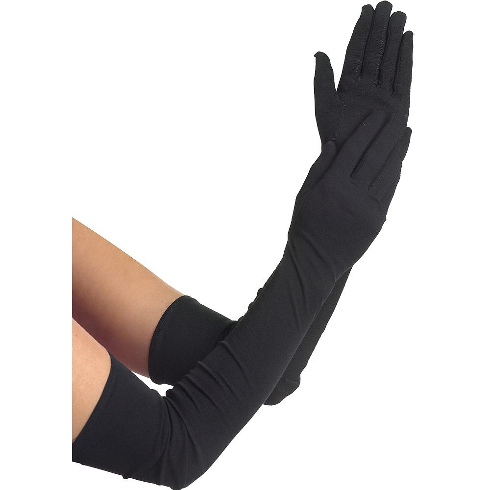Adult Extra Long Black Gloves Image #1