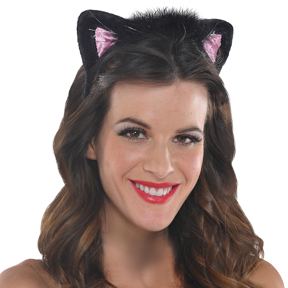 Nav Item for Black Cat Ears Headband Image #2