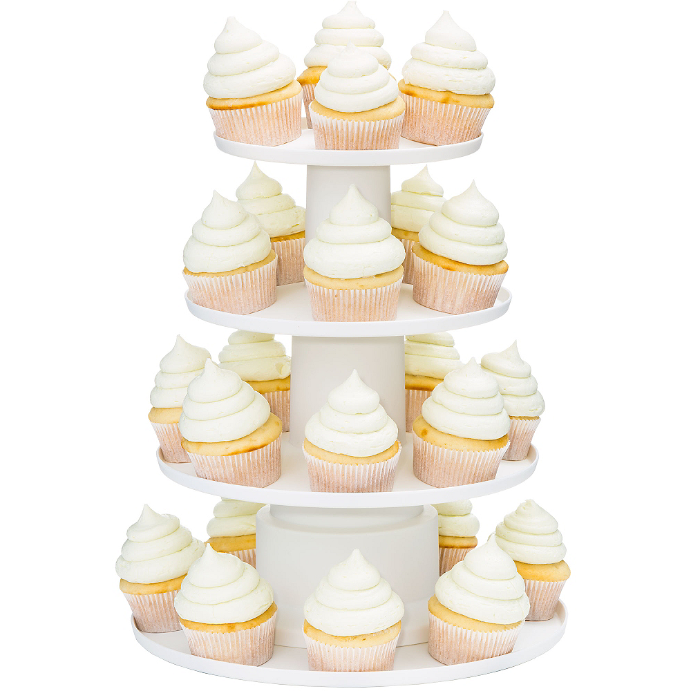 Wedding Cupcake Stand Ideas: Wilton Four-Tier White Cupcake Stand