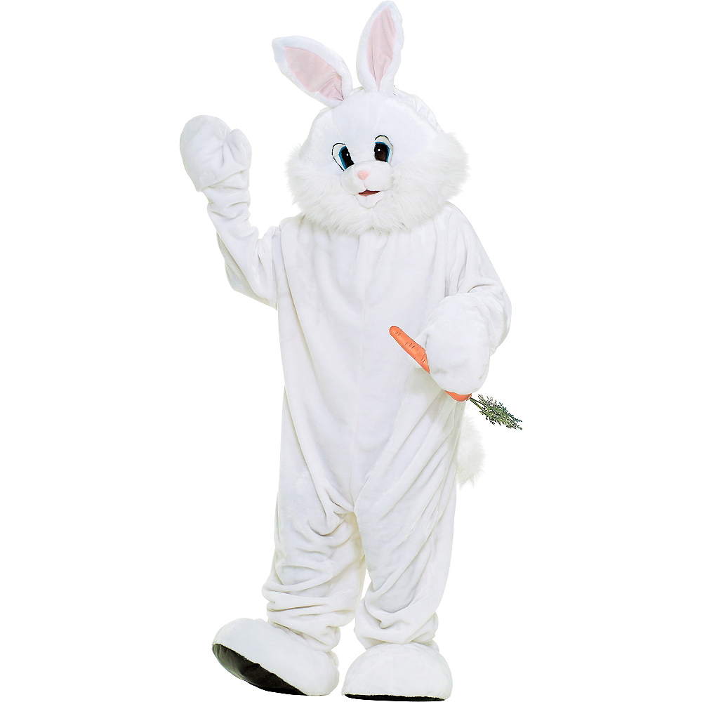 Nav Item for Adult White Mascot Bunny Rabbit Costume Deluxe Image #1