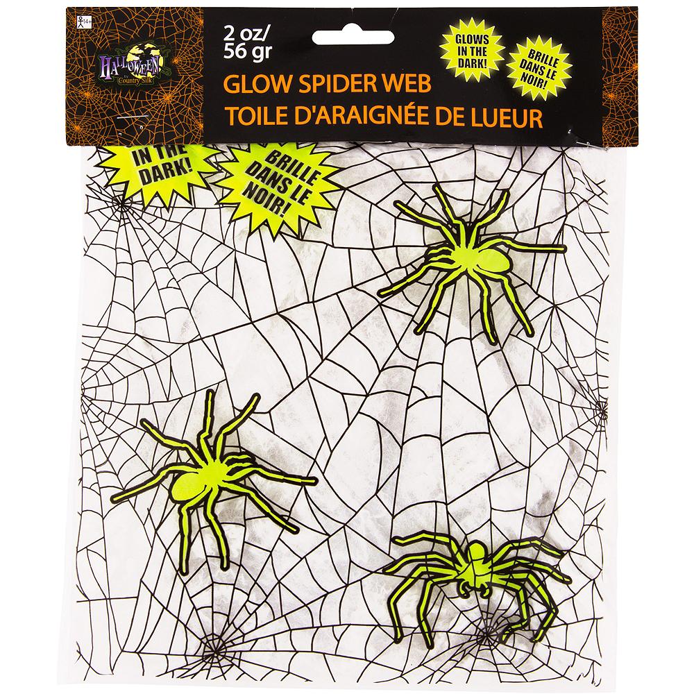 White Glow in the Dark Stretch Spider Web