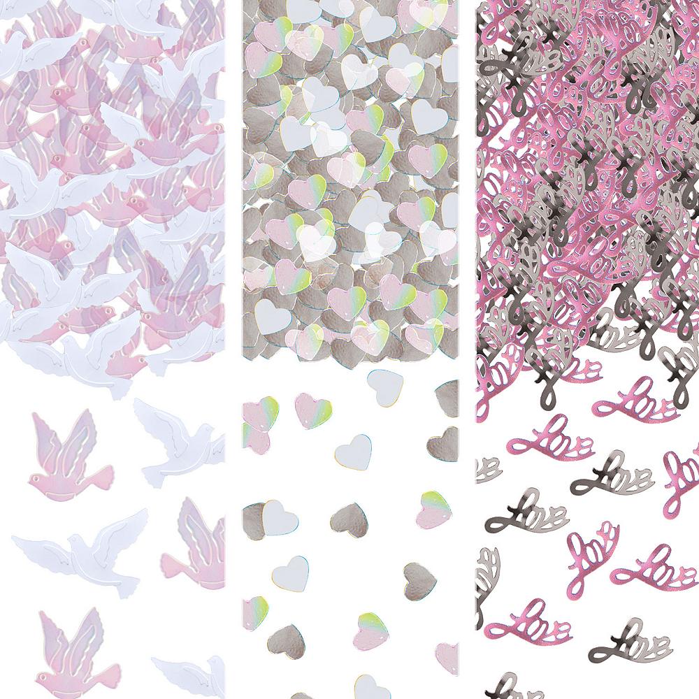Iridescent Dove & Love Wedding Confetti Image #1